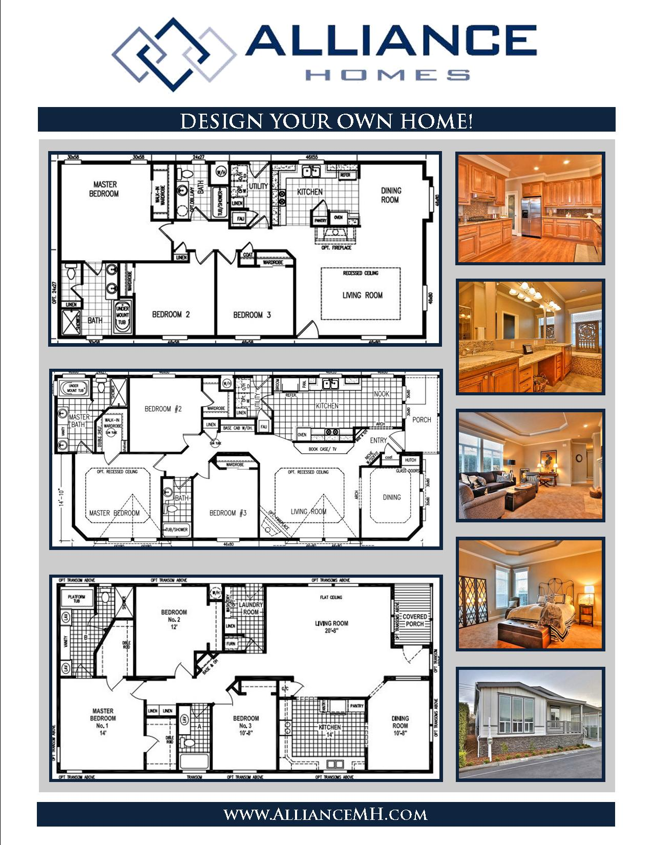 Design your own home alliance manufactured homes for Customize your own house